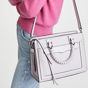 "Rebecca Minkoff Bree Satchel Medium ""Bianco"""
